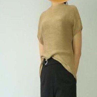 一款织法独特的横织款棒针毛衣(肩部像马鞍肩的横织衣)