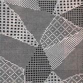 无拼接一次成型的钩针方格编几何图案