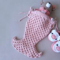 w66.com利来国际棒针美人鱼婴儿睡袋