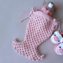 手工编织棒针美人鱼婴儿睡袋