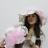 浪漫时尚钩针蕾丝花边棉草夏凉帽U乐娱乐youle88视频教程