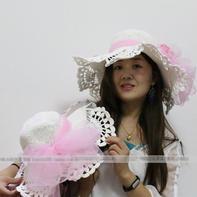 浪漫时尚钩针蕾丝花边棉草夏凉帽编织视频教程