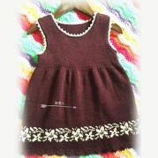 贝塔 机织儿童肩开扣连衣裙