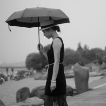 经典小黑裙 简单不乏味女士钩针背心裙