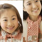 一天即可完成的钩针祖母方格亲子围巾编织图解