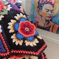 色彩丰富风格迥异钩针毛线毯  英国编织设计师Jane Crow作品欣赏