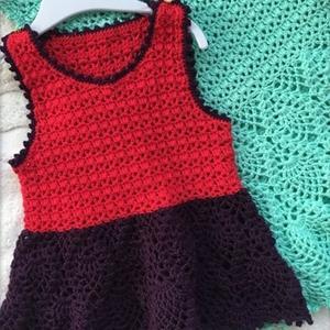 儿童钩针裙式背心编织教程