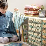 彩色毛线创意编织钩针橱柜门帘图解