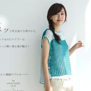 清新拼色女士棒针镂空花系带罩衫