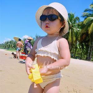 编织泳衣 萌可爱儿童钩针比基尼