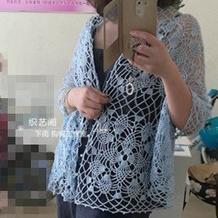披肩开衫两穿的女士钩针蕾丝外搭