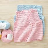 实用钩针宝宝开衫和尚服背心编织视频教学