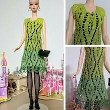 手工编织芭比娃娃时尚休闲装