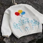 宽松潮版中性儿童绣花棒针开衫编织视频教程(2-2)