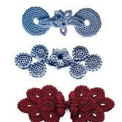 傳統古風鉤針盤扣花樣 旗袍裝配件編織圖解