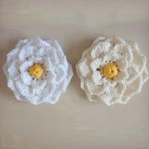 钩针栀子花装饰花朵编织视频教程
