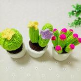钩针毛线仙人球盆栽摆件编织视频教程(2-2)仙人球的钩法