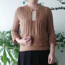 秋季实用百搭女士棒针开衫背心两件套