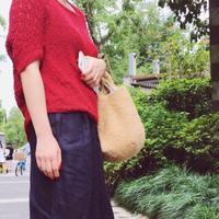 外形简洁时尚麻线钩针手提包