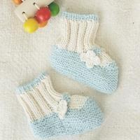 船鞋效果的棒针婴儿衬 亲手为宝宝编织暖心小物