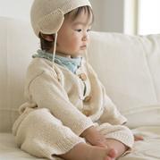 宝宝棒针毛衣裤子编织套装图解(含护耳帽)
