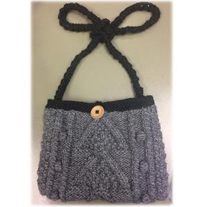 文艺风女士粗针织挎包