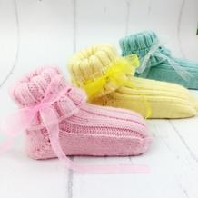 棒针宝宝毛线袜子编织视频教程