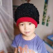 酷帅儿童钩针萝卜丝花帽 黑人假发帽钩法教程