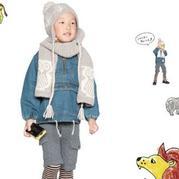 粗针织儿童棒针猫头鹰图案帽子围巾图解