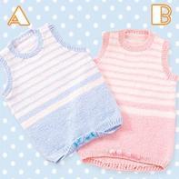 可以两穿的棒针宝宝连体衣编织图解