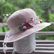 细腻有型女士钩针和纸凉帽
