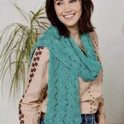 云侣女士棒针羊毛蕾丝披肩