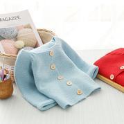 萌芽时尚儿童棒针麻花插肩长袖开衫编织视频
