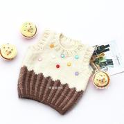 毛衣变蛋糕 可爱甜品风格宝宝棒针背心