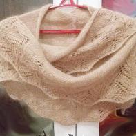 浓浓淑女风女士棒针云侣羊毛蕾丝马海披肩