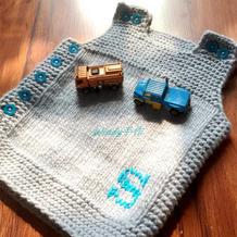 一天即可完成的简单美观实用的棒针秋冬宝宝背心