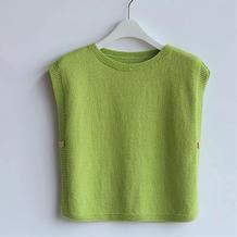 简约实用可织亲子装的儿童两片式背心编织视频教程