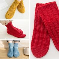 成人款春秋保暖钩针袜子编织视频教程(3-1)竖条纹款
