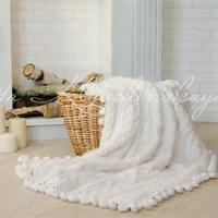 可以做圍巾毯子等織物花邊的萌球球流蘇花樣鉤法教程
