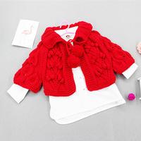 公主风樱桃花纹儿童棒针披风毛衣编织视频教程