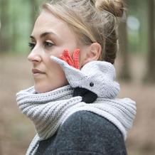 动物围巾还可以这样织 秋冬创意编织毛线围巾款式