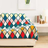 彩色琉璃毯 钩针菱格拼花毯编织视频教程