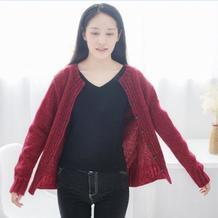 百搭实用女士棒针开衫编织视频(2-2)