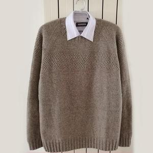 米帅 时尚秋冬牦牛绒棒针男士毛衣