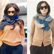围巾的时尚cosplay 围巾怎么织如何搭配才时髦