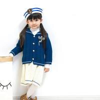 儿童钩针海军服套装编织视频教程(4-2)翻领开衫钩法