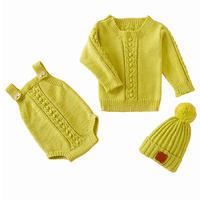 婴幼儿毛衣三件套编织视频教程(5-2)宝宝肩开扣毛衣织法