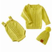 婴幼儿毛衣三件套编织视频教程(5-5)婴儿帽织法