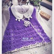 紫色绵羊绒宝宝斜襟背心裙