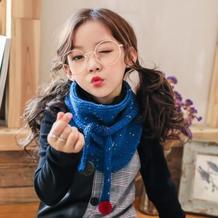 集美貌与实用为一体的毛线编织儿童围脖款式